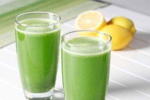 persil et boisson au citron pour perdre du poids