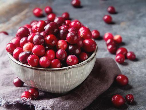 Bienfaits des cranberries séchées et régime.